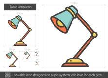 Linea icona della lampada da tavolo Fotografie Stock