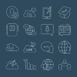 Linea icona della rete sociale Immagini Stock Libere da Diritti
