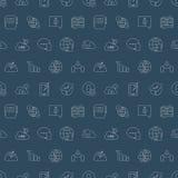Linea icona della rete sociale del modello Fotografia Stock