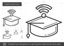 Linea icona della scuola di Digital Fotografia Stock Libera da Diritti