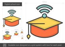 Linea icona della scuola di Digital Immagini Stock