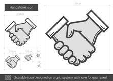 Linea icona della stretta di mano Fotografie Stock