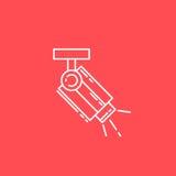 Linea icona della videosorveglianza Fotografia Stock