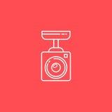 Linea icona della videosorveglianza Fotografia Stock Libera da Diritti