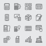 Linea icona di calcolo Fotografie Stock Libere da Diritti