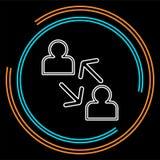 Linea icona di concetto di Coworking illustrazione dell'elemento illustrazione di stock
