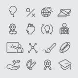 Linea icona di istruzione Immagine Stock Libera da Diritti