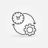 Linea icona di produttività illustrazione vettoriale