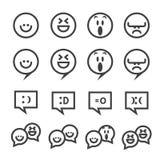 Linea icona di sorriso immagini stock libere da diritti