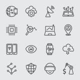 Linea icona di tecnologia di affari immagini stock libere da diritti