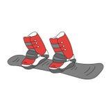 Linea icona di vettore dello snowboard illustrazione vettoriale