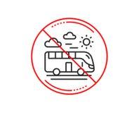 Linea icona di viaggio del bus Segno di trasporto di viaggio Vettore illustrazione di stock