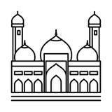 Linea icona - illustrazione iconica della moschea di vettore illustrazione di stock