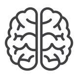 Linea icona, lampo di genio ed idea del cervello, medici Fotografie Stock Libere da Diritti