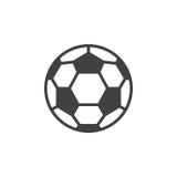 Linea icona, segno riempito di vettore del profilo, pittogramma lineare del pallone da calcio di stile isolato su bianco Fotografia Stock Libera da Diritti