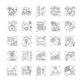 Linea icone con il dettaglio 13 illustrazione di stock