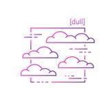Linea icone con il tempo di simbolo Fotografie Stock