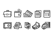 Linea icone dei soldi royalty illustrazione gratis