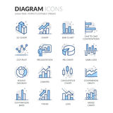 Linea icone del diagramma illustrazione vettoriale