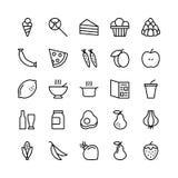 Linea icone 5 dell'alimento di vettore illustrazione di stock