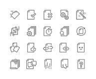 Linea icone della gestione del flusso di documenti royalty illustrazione gratis