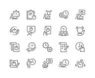 Linea icone della gestione di tempo royalty illustrazione gratis