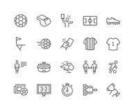 Linea icone di calcio illustrazione di stock