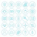 Linea icone di Cryptocurrency del cerchio Fotografia Stock
