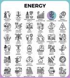 Linea icone di energia royalty illustrazione gratis