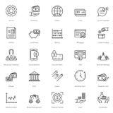 Linea icone 18 di finanza e contare di vettore illustrazione vettoriale
