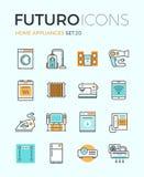 Linea icone di futuro degli apparecchi illustrazione di stock