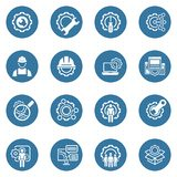 Linea icone di ingegneria Immagine Stock Libera da Diritti