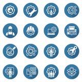 Linea icone di ingegneria Fotografie Stock