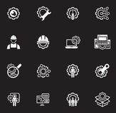 Linea icone di ingegneria Fotografia Stock