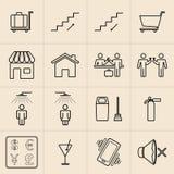 Linea icone di mostra Immagine Stock Libera da Diritti