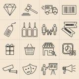 Linea icone di mostra Immagine Stock