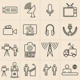 Linea icone di mostra messe Fotografia Stock Libera da Diritti