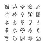 Linea icone 8 di Natale, di Halloween, del partito e di celebrazione di vettore illustrazione vettoriale