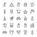 Linea icone 1 di pulizia royalty illustrazione gratis