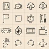 Linea icone di vendita di Digital Immagine Stock