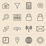 Linea icone di vendita di Digital Fotografie Stock Libere da Diritti