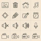 Linea icone di vendita di Digital Immagini Stock