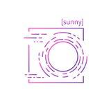linea icone di vettore con il tempo di simbolo Fotografia Stock Libera da Diritti