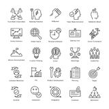 Linea icone 2 di vettore di crescita e della gestione di impresa Fotografie Stock Libere da Diritti