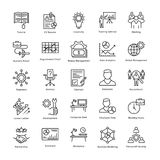 Linea icone 15 di vettore di crescita e della gestione di impresa royalty illustrazione gratis