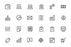 Linea icone 3 di vettore di finanza e di affari illustrazione vettoriale