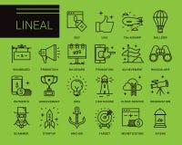 Linea icone di vettore in uno stile moderno Immagine Stock Libera da Diritti