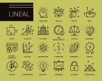 Linea icone di vettore in uno stile moderno Fotografia Stock Libera da Diritti