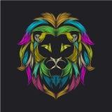 Linea illustrazione del leone del arte illustrazione di stock