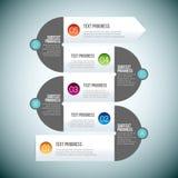 Linea Infographic di zigzag Immagine Stock